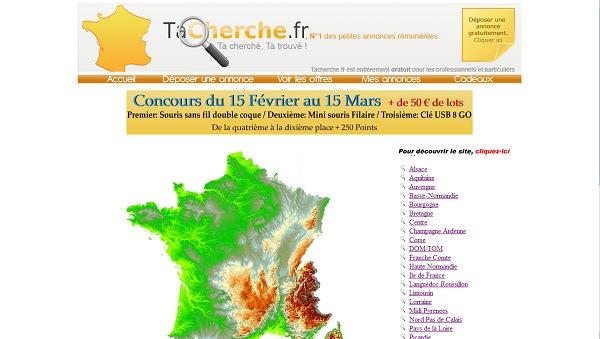 Tacherche.fr: site de petites annonces rémunérées